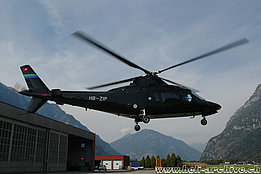 Lodrino/TI, September 2007 - The Agusta A109AII HB-ZIP in service with Mediair (M. Bazzani)