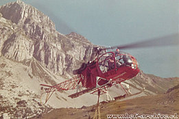 1973 - The SA 315B Lama HB-XDZ in service with Heliswiss (P. Schmid)