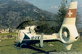 1976 - The SA 341G Gazelle HB-XFW in service with Air Grischa (HAB)