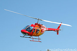 Zollbrück/SG, September 2007 - The Bell 206B Jet Ranger III HB-XSM in service with Mountain Flyers 80 Ltd. (K. Albisser)