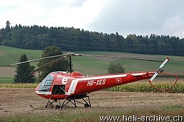 Heli-Event Melchnau, September 2009 - The Enstrom F-28C HB-XES of the Flugschule Eichenberger (M. Bazzani)