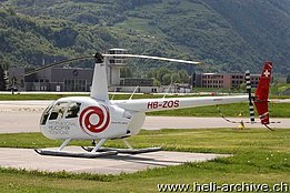 Sion/VS, May 2013 - The Robinson R-44 Raven II HB-ZOS in service with Helitrans AG (O. Colombi)