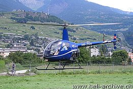 Sion/VS, June 2007 - The Robinson R-22 Beta HB-ZHH in service with Groupe Hélicoptère Sion (M. Ceresa)