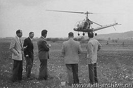 Dällikon/ZH, May 1954 - The Hiller 360 HB-XAD in service with Air Import used by Max Kramer during his training as a helicopter pilot (M. Kramer)