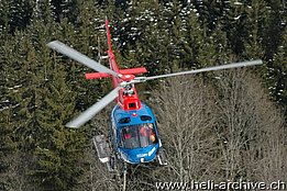 Saanen/BE, January 2010 -The AS 350B2 Ecureuil HB-XSO in service with Heli-TV (B. Siegfried)