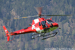 Wilderswil/BE, May 2019 - The AS 350B3e Ecureuil HB-ZRJ in service with Rega (M. Ceresa)