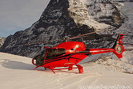 Kleine Scheidegg/BE, December 2011 - The EC 120B Colibri HB-ZMR in service with Helipool Europe GmbH (B. Siegfried)