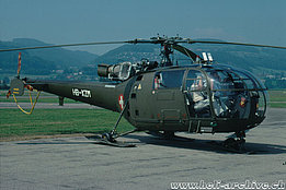 Belp/BE, September 1990 - The SE 3160 Alouette 3 HB-XZM temporarily in service with Federal office of civil aviation (HAB)