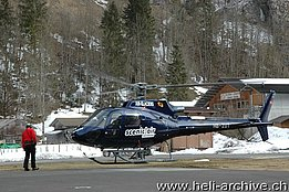 Lauterbrunnen/BE, March 2013 - The AS 350B3 Ecureuil HB-ZUT in service with Air Glaciers (M. Bazzani)