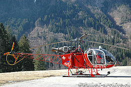 Gsteigwiler/BE, March 2008 - The SA 315B Lama HB-XTM of Bohag piloted by Toni Lötscher (M. Bazzani)
