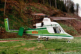 April 1997 - The Kaman K-1200 K-Max HB-XQA in service with Rotex AG (M. Mau)