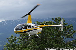 Balzers/FL, June 2019 - The Robinson R-66 HB-ZTL in service with Valair AG (M. Bazzani)