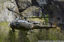 Lauterbrunenn/BE, May 2015 - The SE 3160 Alouette 3 of Alouette Swiss AG (M. Bazzani)
