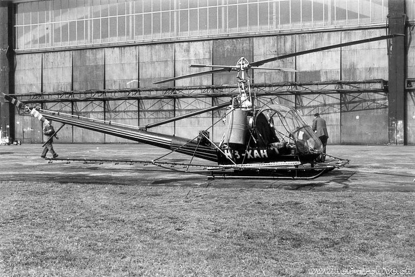 The spraying equipment installed on the Hiller UH-12B HB-XAH (archive M. Kramer)