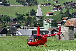 Gstaad/BE, summer 2020 - The Robinson R-44 Raven II HB-ZSC in service with Top Client Service AG (R. Zurcher)