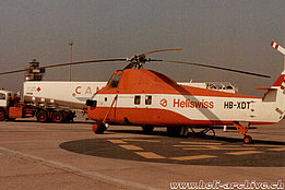 Barcellona/Spain, August 1979 - The Sikorsky S-58T HB-XDT in service with Heliswiss (HAB)