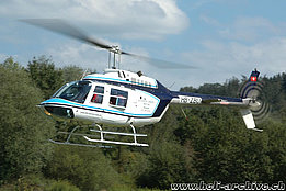 Aadorf/TG, settembre 2007 - L'Agusta-Bell 206B Jet Ranger III HB-ZBU in servizio con la Helikopter Service Triet AG (K. Albisser)