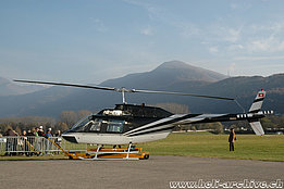 Locarno airport/TI, November 2012 - The Bell 206B Jet Ranger III HB-ZEB in service with Karen (M. Bazzani)