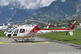 Sion/VS, August 2017 - The AS 350B3 Ecureuil HB-ZTU in service with Air Glaciers (T. Schmid)