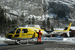 Lauterbrunnen/BE, February 2010 - The AS 350B3 Ecureuil HB-ZNA in service with Air Glaciers (M. Bazzani)