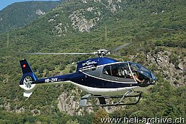 San Vittore/GR, September 2012 - The EC 120B Colibrì HB-ZHV in service with the Brycal AG (M. Bazzani)