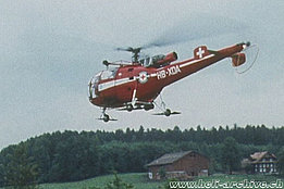 1970s - The SE 3160 Alouette 3 HB-XDA in service with Air Zermatt (HAB)