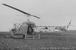 Belp/BE, April 1956 - The Agusta-Bell 47G2 HB-XAO in service with Heliswiss (HAB)