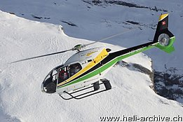 Kleine Scheidegg/BE, January 2011 - The EC 120B Colibrì HB-ZDS in service with Heli Gotthard (O. Colombi)