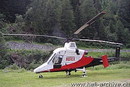 Bedretto Valley/TI, July 2009 - The Kaman K-1200 K-Max HB-ZGK in service with Rotex (M. Ceresa)