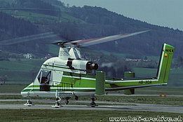 April 1997 - The Kaman K-1200 K-Max HB-XQA in service with Rotex AG (P. Wernli)