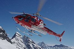 Petersgrad/VS, March 2019 - The AS 350B3e Ecureuil HB-ZOY in service with Air Zermatt (H. Zurniwen)