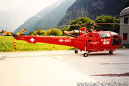 Erstfeld/UR, July 1993 - The SA 319B Alouette 3 HB-XRJ in service with Rega (K. Albisser)
