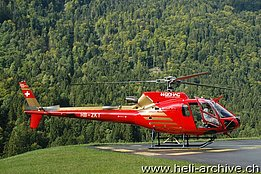 Gsteigwiler/BE, settembre 2012 - L'AS 350B3 Ecureuil HB-ZKT in servizio con la Swiss Helicopter AG (M. Bazzani)