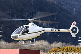 Lodrino/TI, February 2021 - The Guimbal Cabri G2 HB-ZPU in service with Air-Evolution Ltd (A. Sacchet)