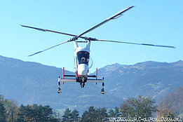 Balzers/FL, October 2015 - The Kaman K-1200 K-Max HB-ZGK in service with Rotex Helicopter AG (M. Bazzani)