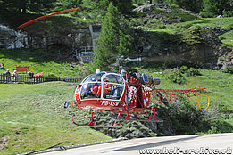 Zermatt/VS, June 2010 - The SA 315B Lama HB-XSW in service with Air Zermatt (H. Zurniwen)