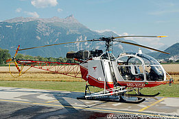 Collombey/VS, July 2006 - The SA 315B Lama HB-XGP in service with Air Glaciers (K. Albisser)