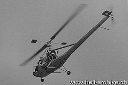 September 1949 - The Hiller 360 HB-XAI of Air Import is the first civil helicopter to be registered in Switzerland (photo Hugo Stocker)