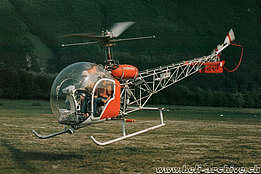 The Bell 47G2 HB-XAW in service with Heliswiss between 1958 and 1980 (Heliswiss)