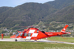 Zweisimmen/BE, August 2017 - The AW 109SP Da Vinci HB-ZRN in service with Rega (M. Ceresa)