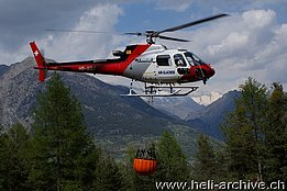 Visp/VS, Aprile 2011 - The AS 350B3 Ecureuil HB-XQJ in service with Air Glaciers (B. Siegfried)