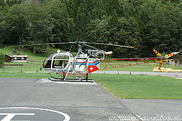 Lauterbrunnen/BE, August 2009 - The SA 315B Lama HB-XTN in service with Air Glaciers (K. Albisser)