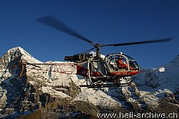 October 2010 - The SA 315B Lama HB-XXJ in service with Air Glaciers (B. Siegfried)