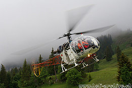 June 2011 - The SA 315B Lama HB-ZMT in service with Heli Bernina (photo Bruno Siegfried)