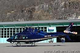 Lodrino/TI, March 2009 – The Agusta-Westland 119 Mk. II HB-ZUS in service with Swiss-Jet AG (M. Bazzani)