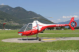 Locarno airport/TI, July 2017 - The Guimbal G2 Cabri HB-ZYZ in service with Swiss Helicopter (M. Ceresa)