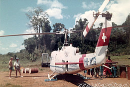 Suriname 1972 – The Agusta-Bell 204B HB-XCG in service with Heliswiss (HAB)