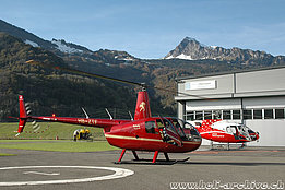 Balzers/FL, October 2014 - The Robinson R-44 Raven II HB-ZTF owned by Montalin Heli AG (M. Bazzani)