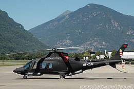 Lodrino/TI, July 2008 - The Agusta A109S HB-ZJU in service with Helifin Project Est. (M. Bazzani)