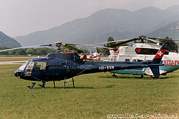 Lugano-Agno/TI, July 1991 - The AS 350B2 Ecureuil HB-XVM in service with Helog AG (B. Acklin)